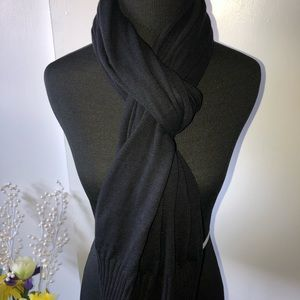 NWOT IMAN SOFTEST Knit Scarf/Wrap w/Ribbed Trim